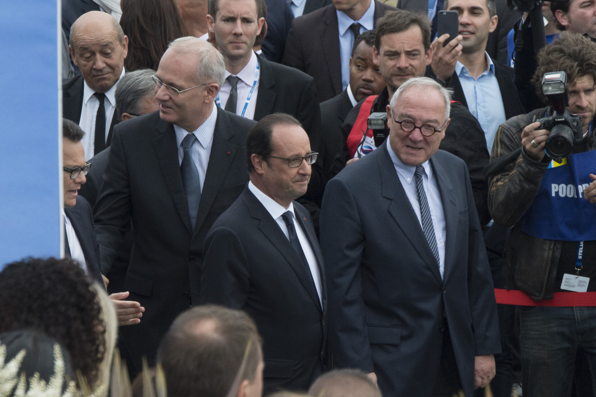 Jean-Jacques Dordain with the President François Hollande