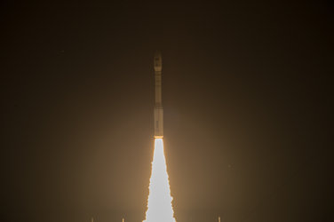 Liftoff of Vega VV05 carrying Sentinel-2A