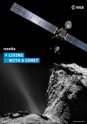 Living with a comet poster