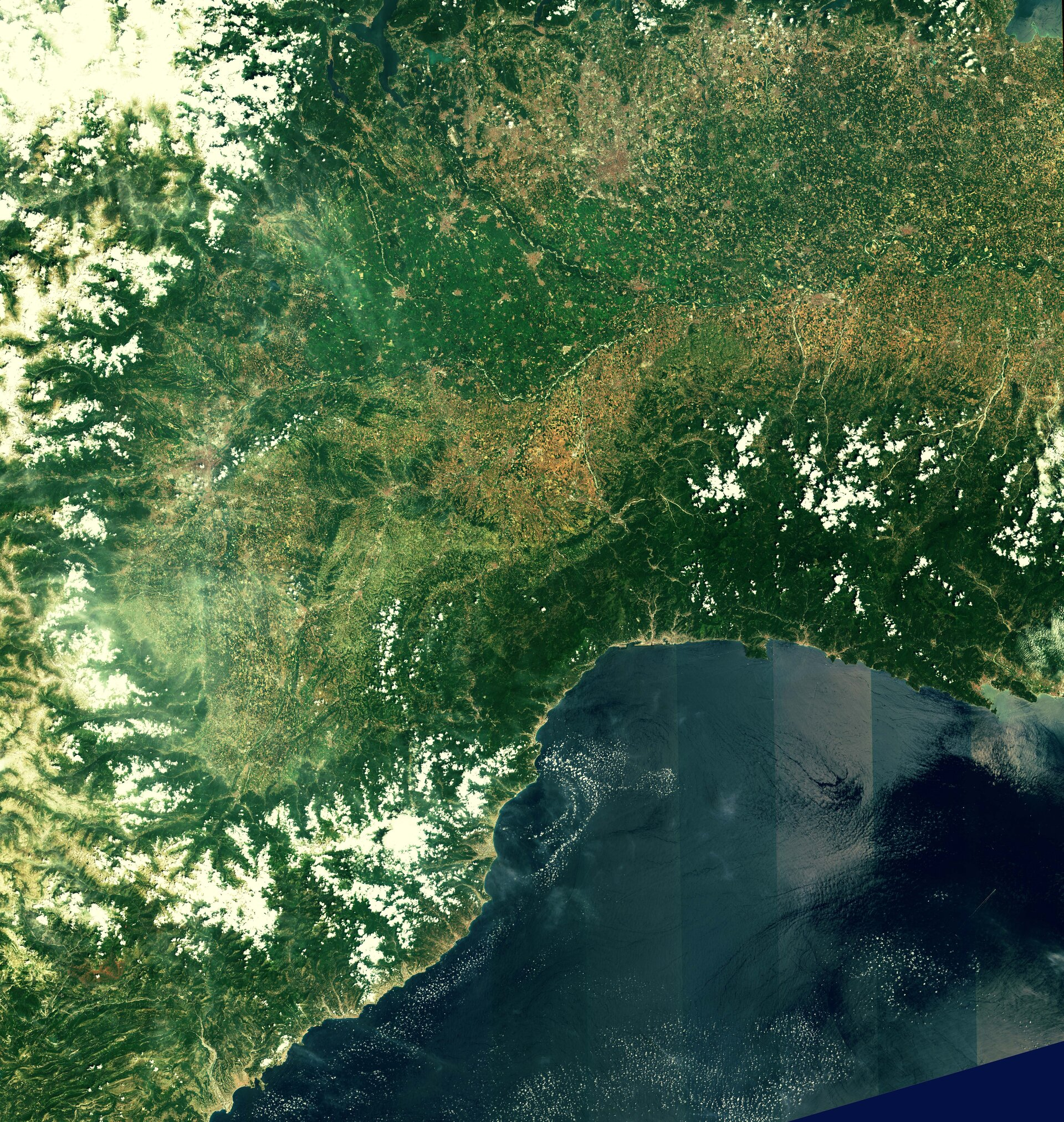 Northwest Italy and southern France from Sentinel-2A