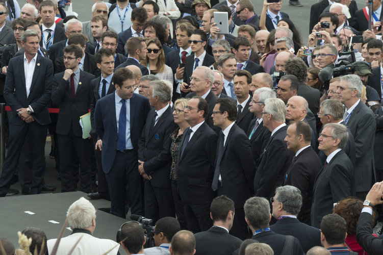 President François Hollande visits the Paris Air & Space Show