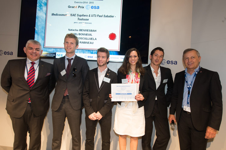 Prize-giving ceremony for the Student Aerospace Challenge