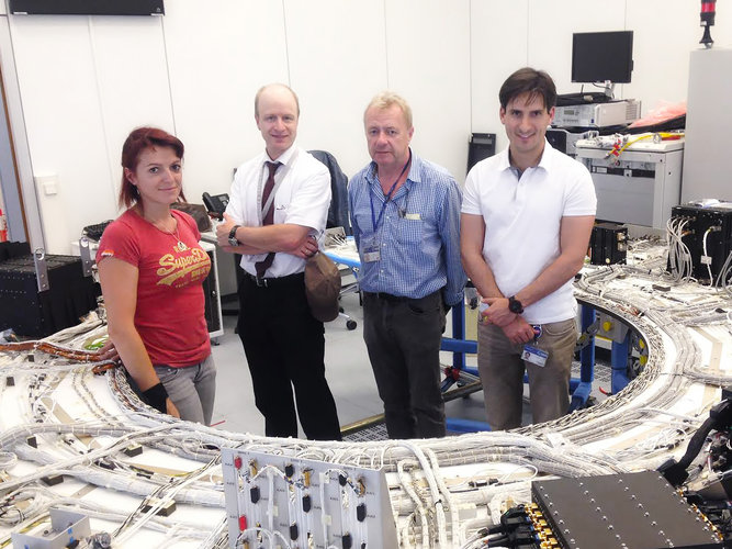 Gaia avionics model settles into new home at ESOC