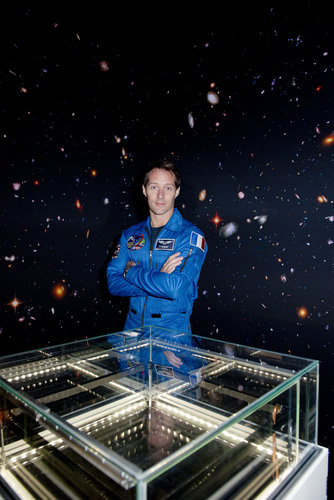 Thomas Pesquet in the Cloud chamber at Le Bourget