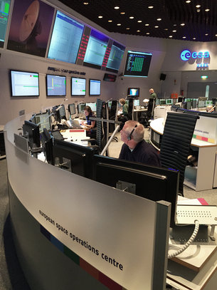 Sentinel-2A mission control team working around the clock to activate crucial systems and ensure the spacecraft's health in the extreme environment of space.