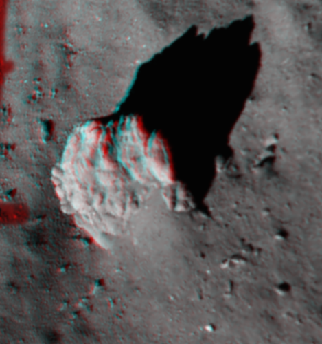 3D view of large boulder at Agilkia