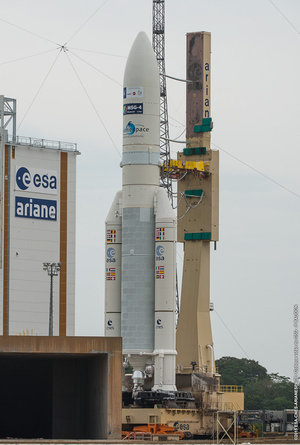 Ariane flight VA224 on the launchpad