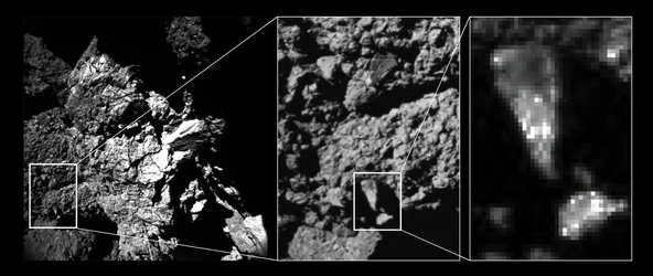 Brightness variations of comet surface