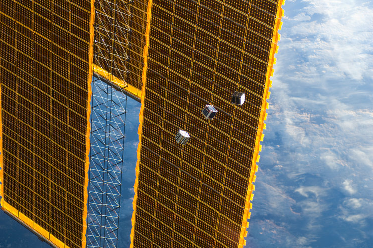 CubeSats leaving Station