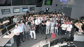 The MSG-4 mission control team at ESOC handed over control of Europe's newest weather satellite to Eumetsat on 26 July 2015