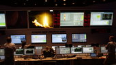 Ariane flight VA224 liftoff with MSG-4 on board as seen by ESA's Mission Control Team in Main Control Room at ESOC, 15 July 2015. Image Credit: ESA/L. Guilpain - CC BY-SA IGO 3.0