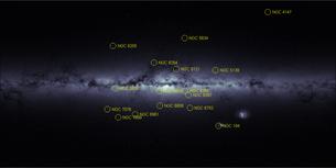 Kort over Gaia's stjernetælling