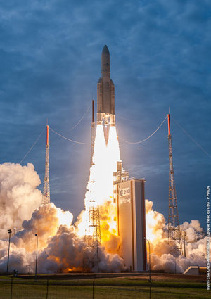 Ariane 5 liftoff on flight VA225