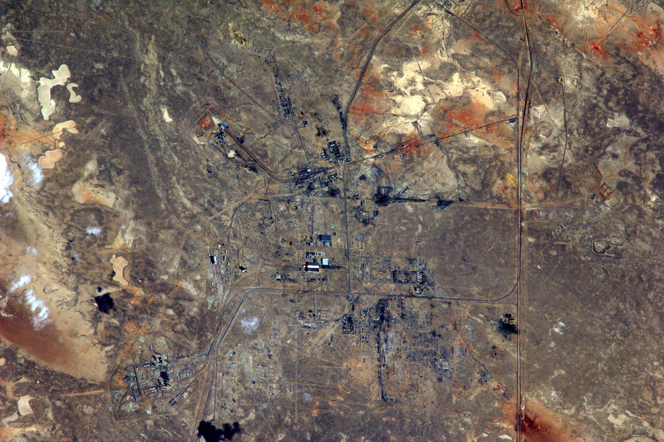 Baikonur seen from space