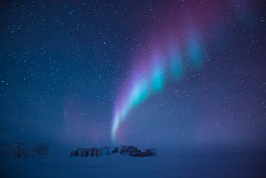 Aurora over Concordia station