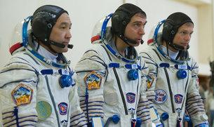 astronauterne med den danske astronaut Andreas Mogensen th.