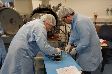 Visual inspection of AAUSAT5 CubeSat