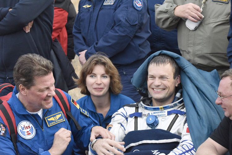ESA astronaut Andreas Mogensen back on Earth
