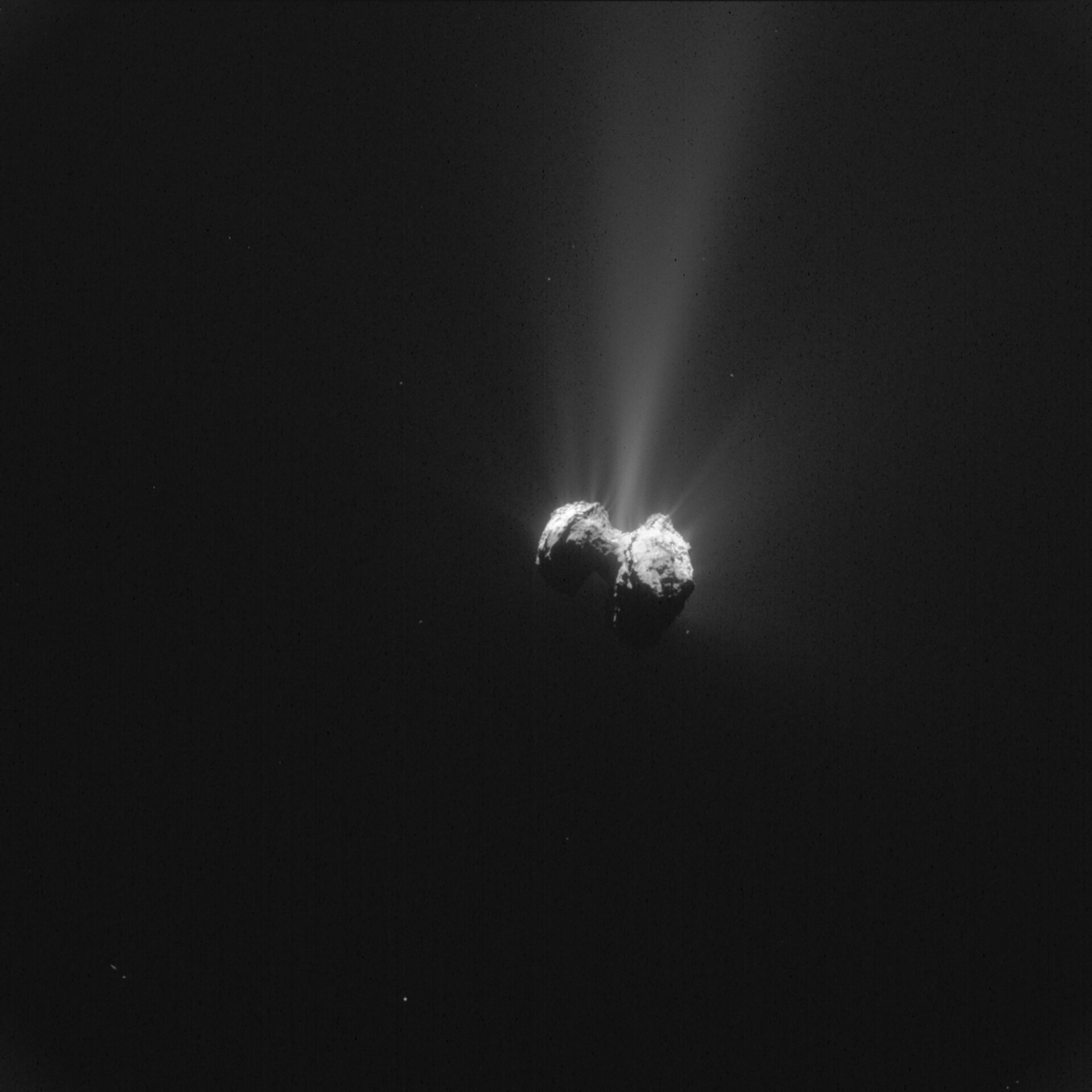 Comet nucleus seen by Rosetta on 21 September