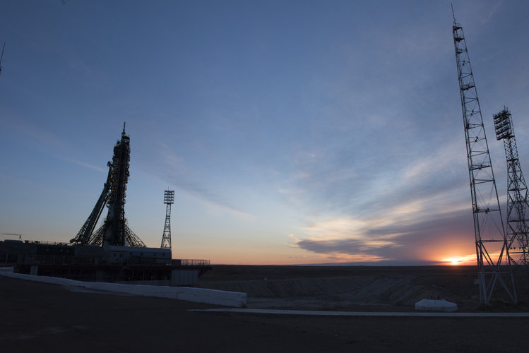 Dawn at the launchpad
