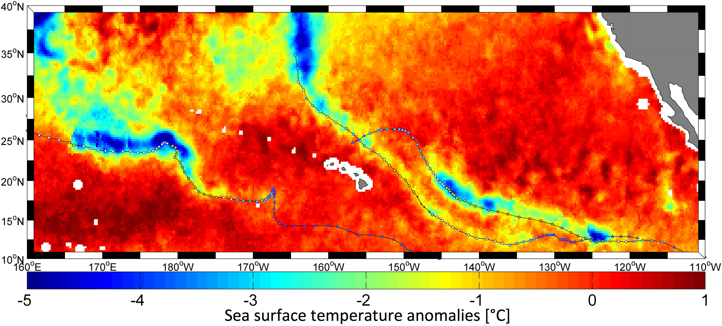 Hurricanes change temperature of sea surface