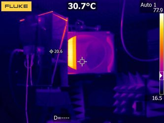 Infrared view of test