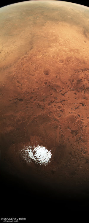 Mars south pole and beyond