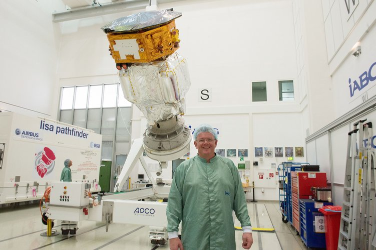 Paul McNamara at IABG's space test centre