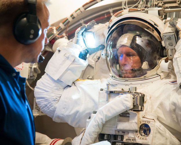 Tim testing NASA spacesuit
