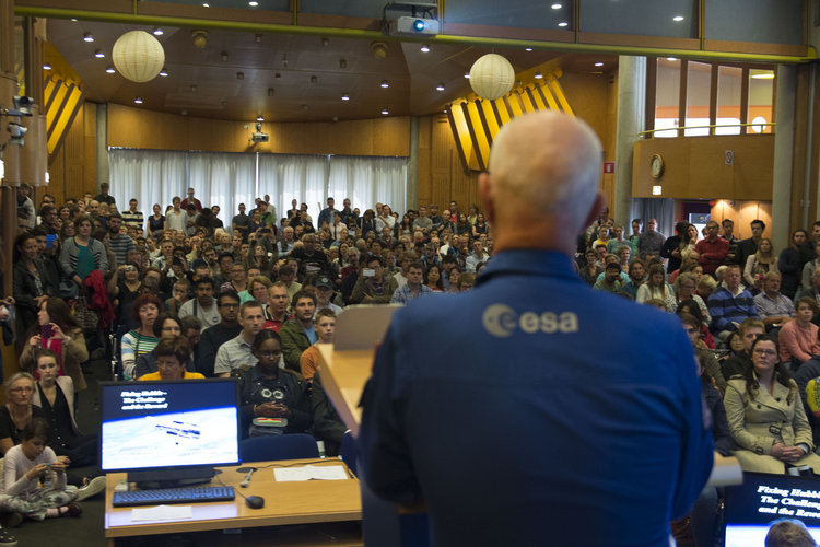 Claude Nicollier at ESTEC Open Day