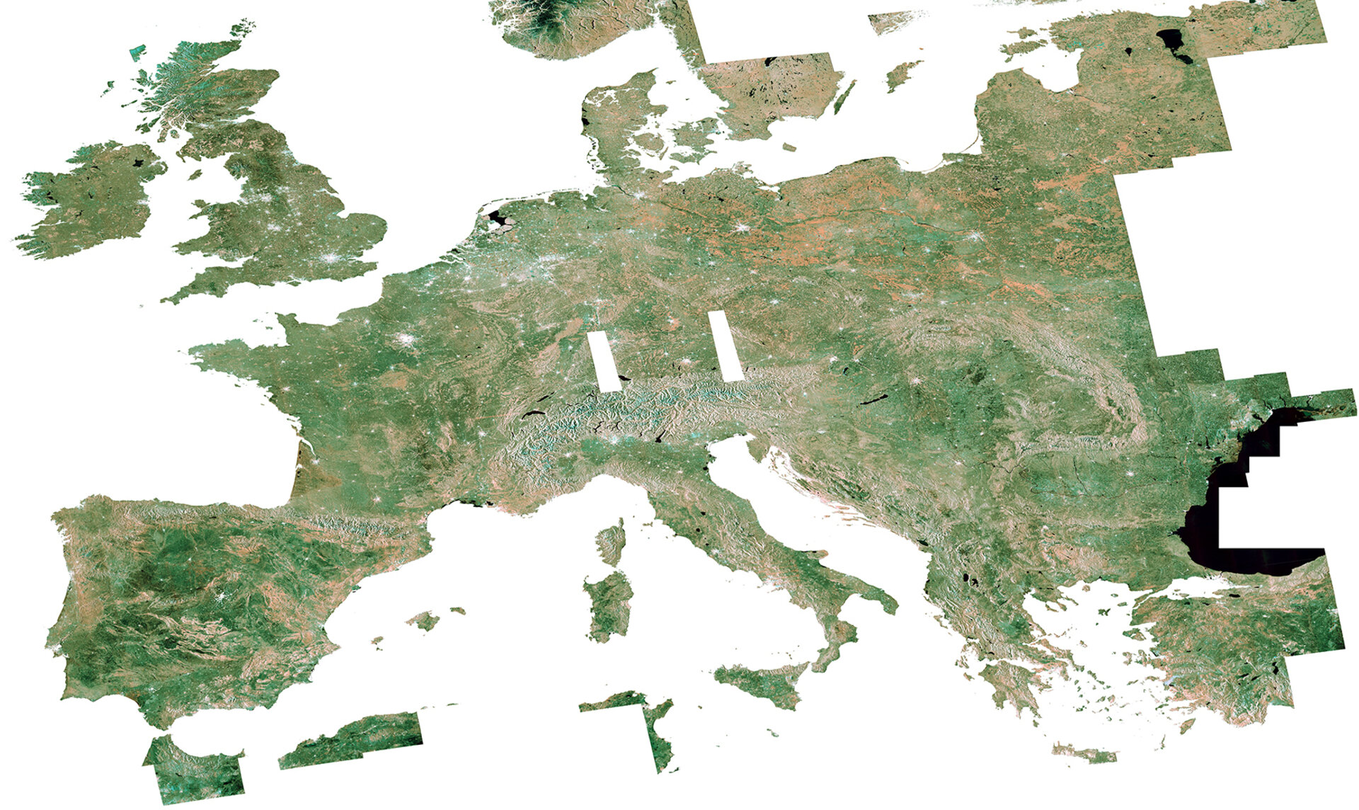 Sentinel-1A mosaic of Europe