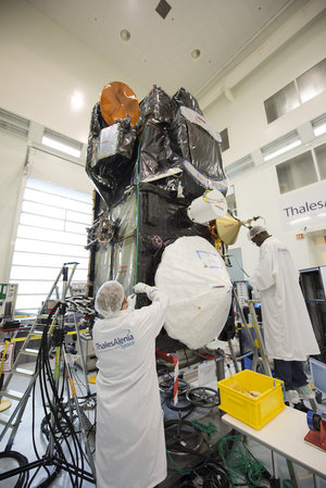 Sentinel-3A satellite in Cannes, France