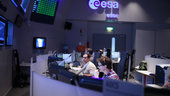Sentinel-3A simulation training at ESOC, Darmstadt, 20 October 2015.
