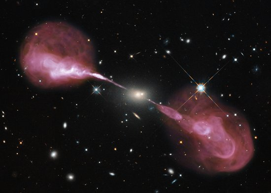 A supermassive black hole in action