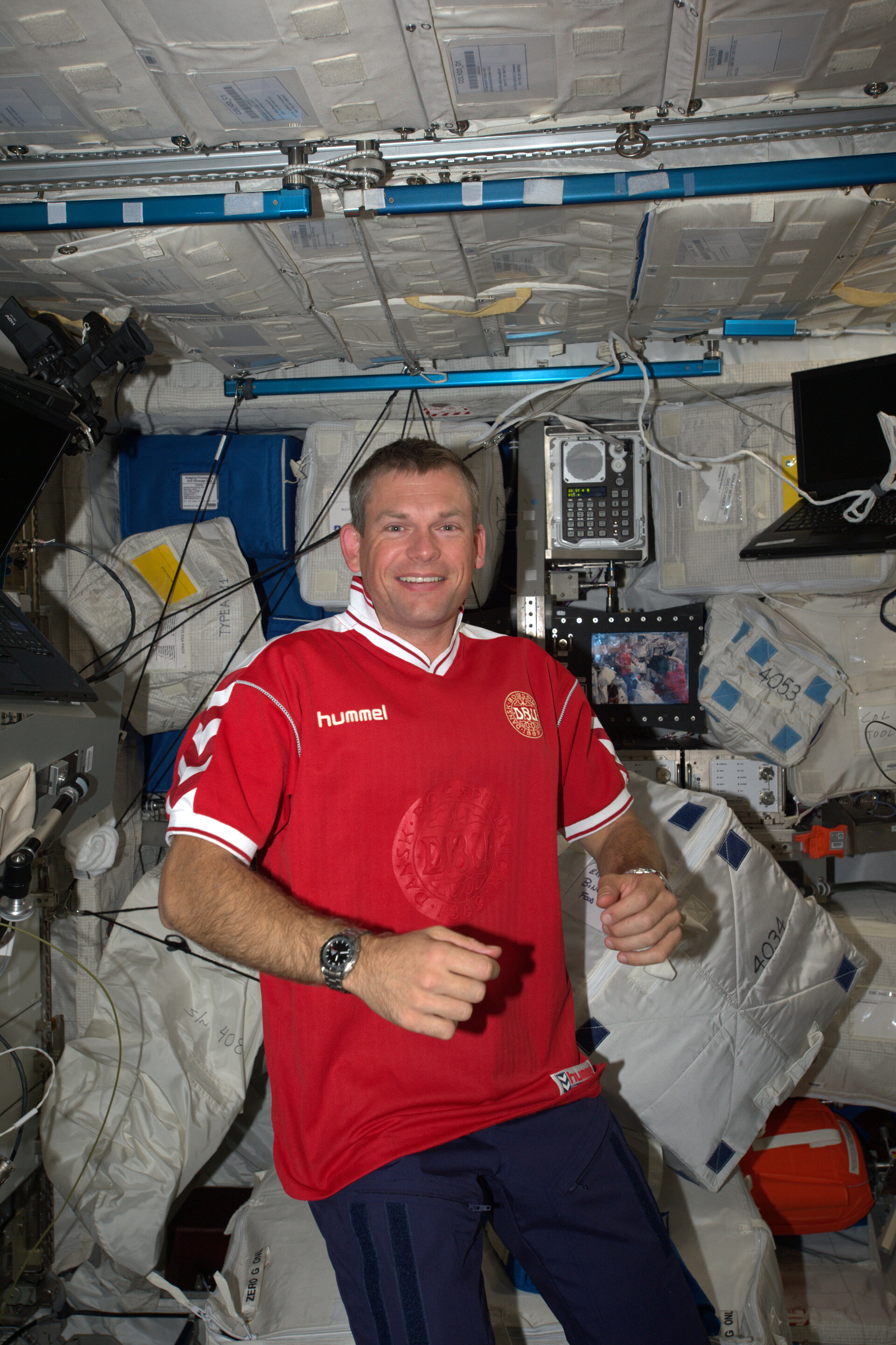 Andreas' first day in Space Station