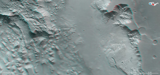 Aurorae Chaos and Ganges Chasma in 3D