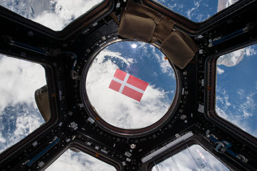 Danish flag in space