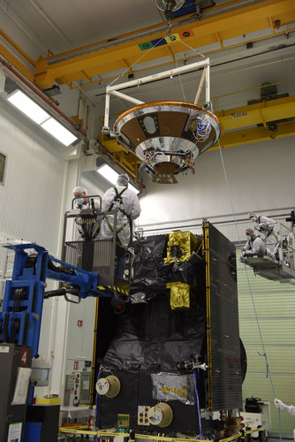 EDM module being installed at the top of the TGO