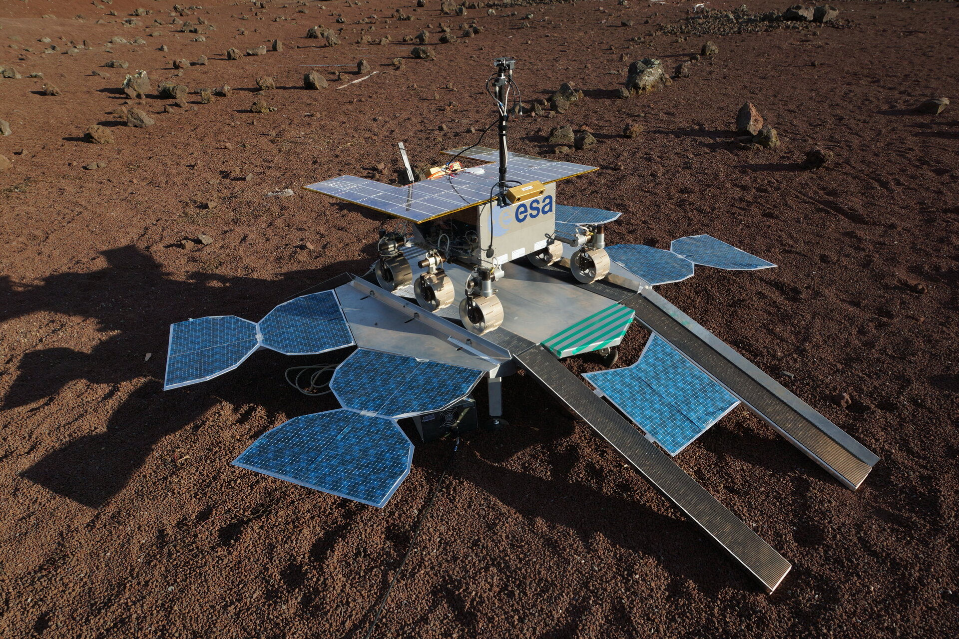 Egress test rover in CNES Mars Yard