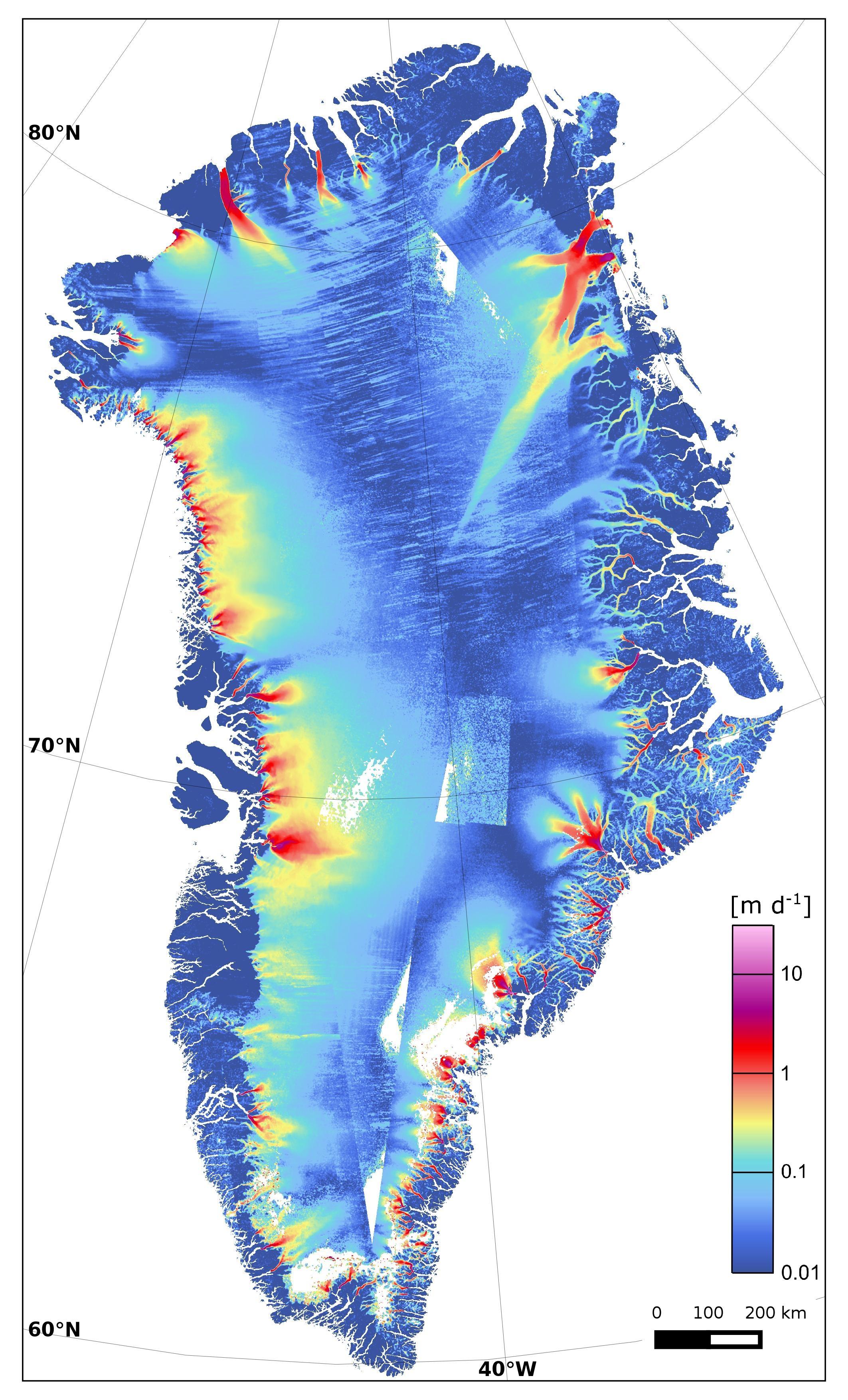 Arctic Islands Greenland Map