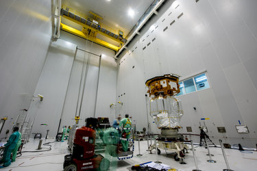 LISA Pathfinder before being installed on its payload launcher adapter