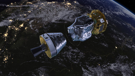 LISA Pathfinder in low-Earth orbit (A)