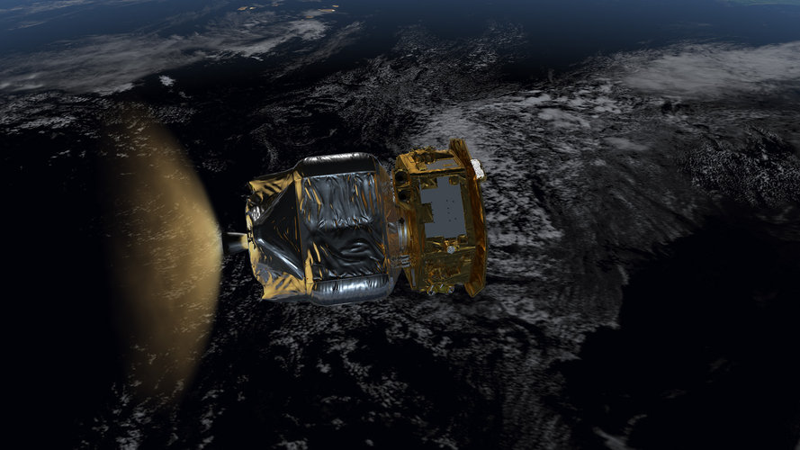 LISA Pathfinder in low-Earth orbit (B)