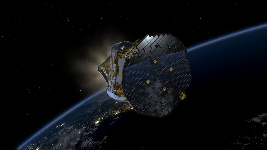 LISA Pathfinder in low-Earth orbit (C)