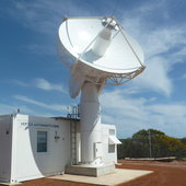 A new 4.5 m-diameter 'acquisition aid' dish antenna is being added to ESA's existing New Norcia, Western Australia, tracking station, ready to catch the first signals from newly launched missions.