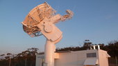 A new 4.5 m-diameter dish antenna is being added to ESA's New Norcia, Western Australia, tracking station, ready to catch the first signals from newly launched satellites.