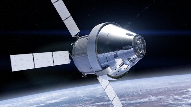 NASAs Orion bemandede Orion modul med ESAs servicemodul