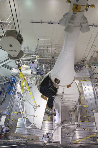 Fairing integration for Orion Exploration Flight Test 1