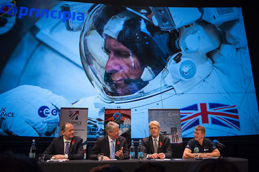 Tim Peake meets the press on his final visit to the UK before launch to the ISS