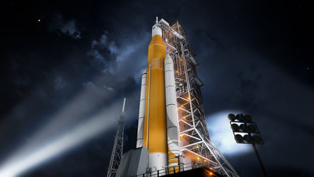 Artist's impression of Space Launch System